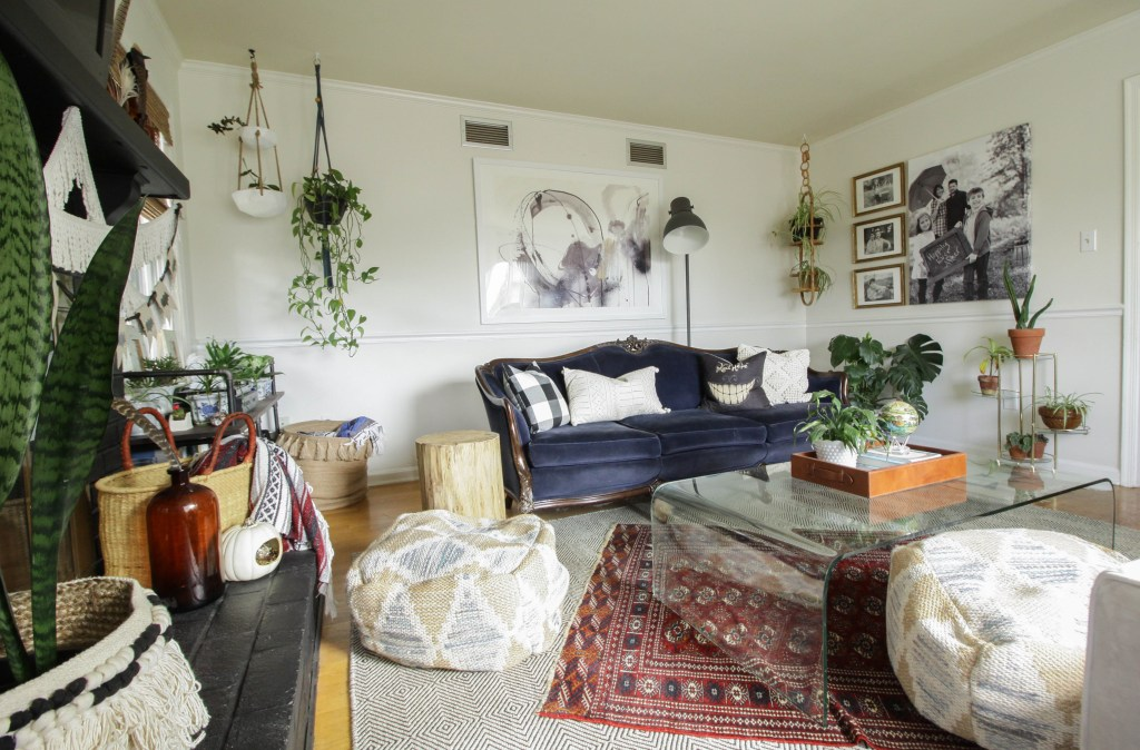Eclectic Bohemian Vintage Living Room