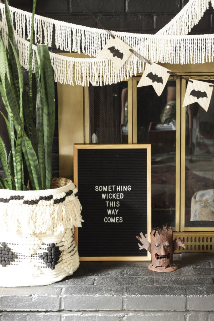 Halloween Letterboard- Something Wicked This Way Comes