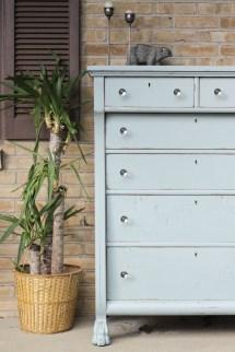 Furniture Makeover Antique Clawfoot Dresser - Cassie