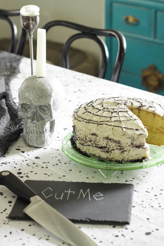 Spiderweb Cake for Halloween