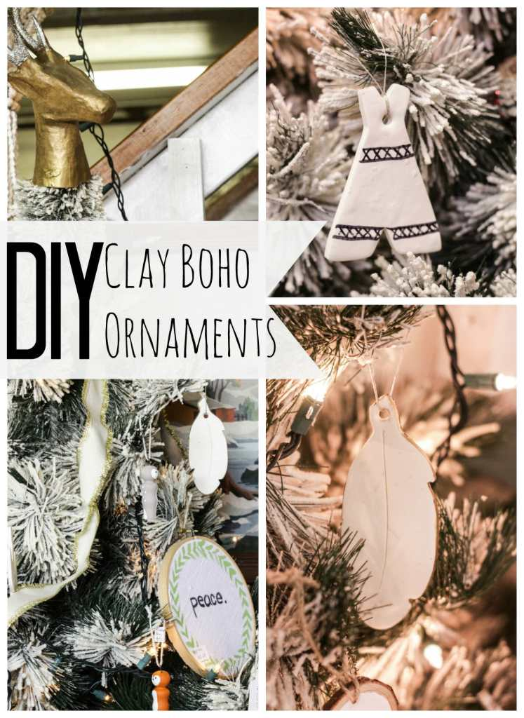 DIY Clay Boho Christmas Ornaments