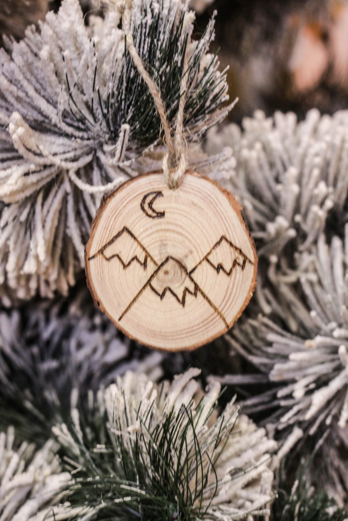 DIY Mountain Adventure Wood-burned Christmas Ornaments