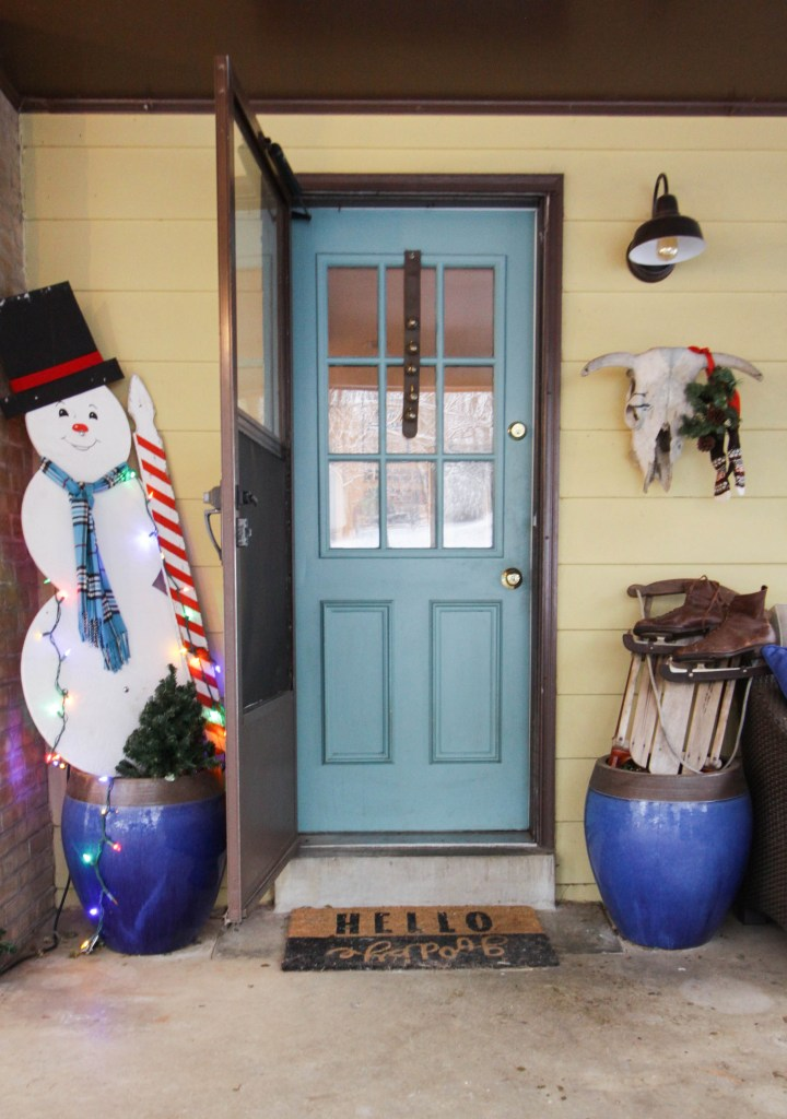 Vintage Christmas Porch Entry