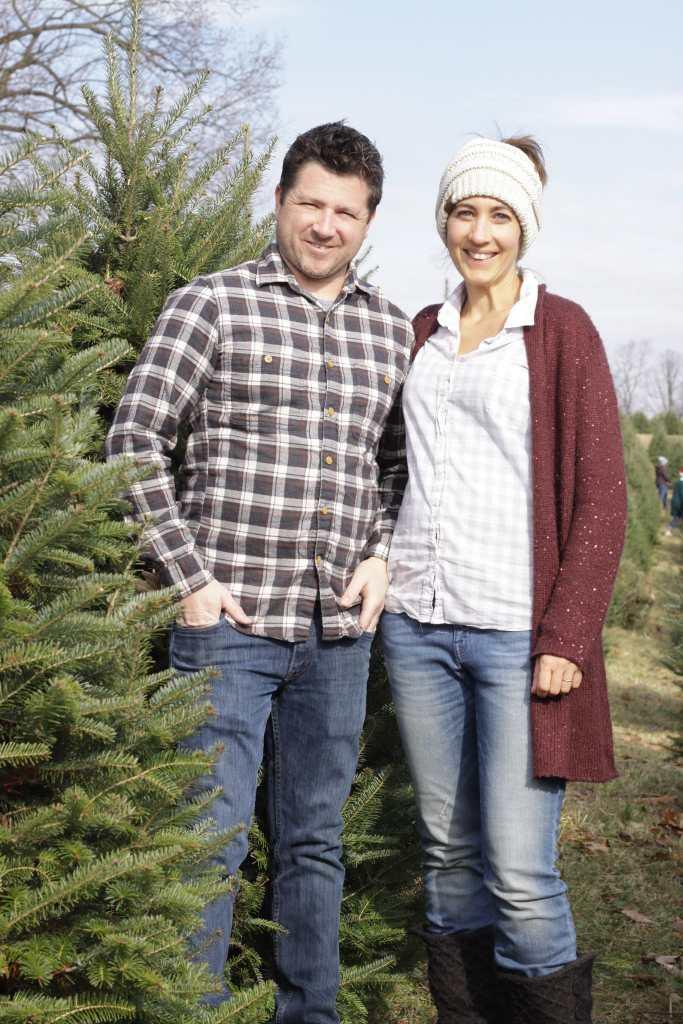 Chris & Me 17 weeks Christmas Tree outing