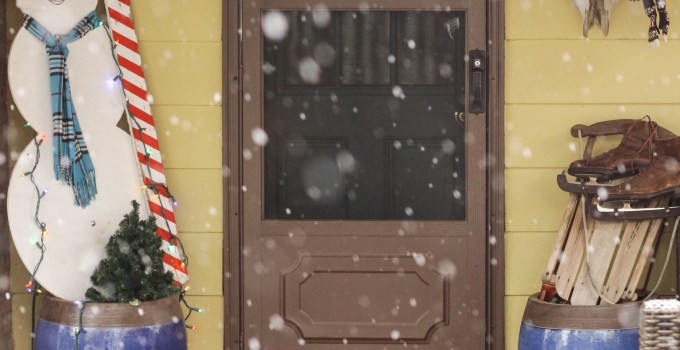 Eclectic Christmas Home Tour Part 3: Cozy Snowy Porch & Chicken Coop