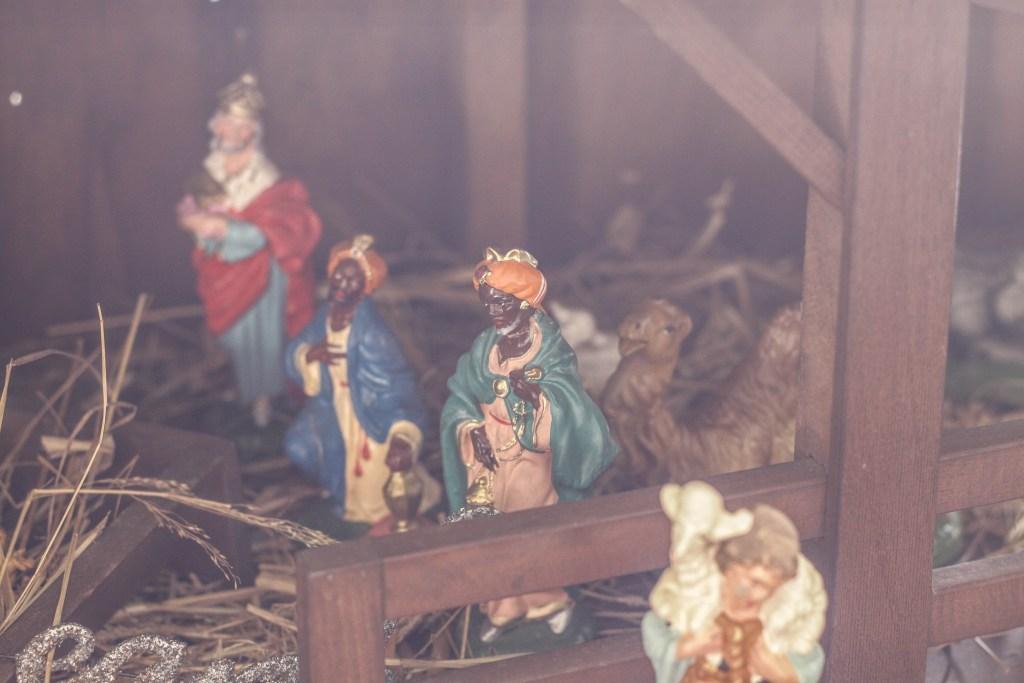 Vintage Nativity scene from italy