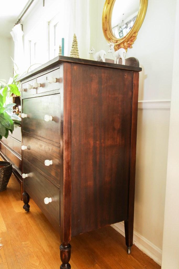 Easy & Simple Wood Dresser makeover