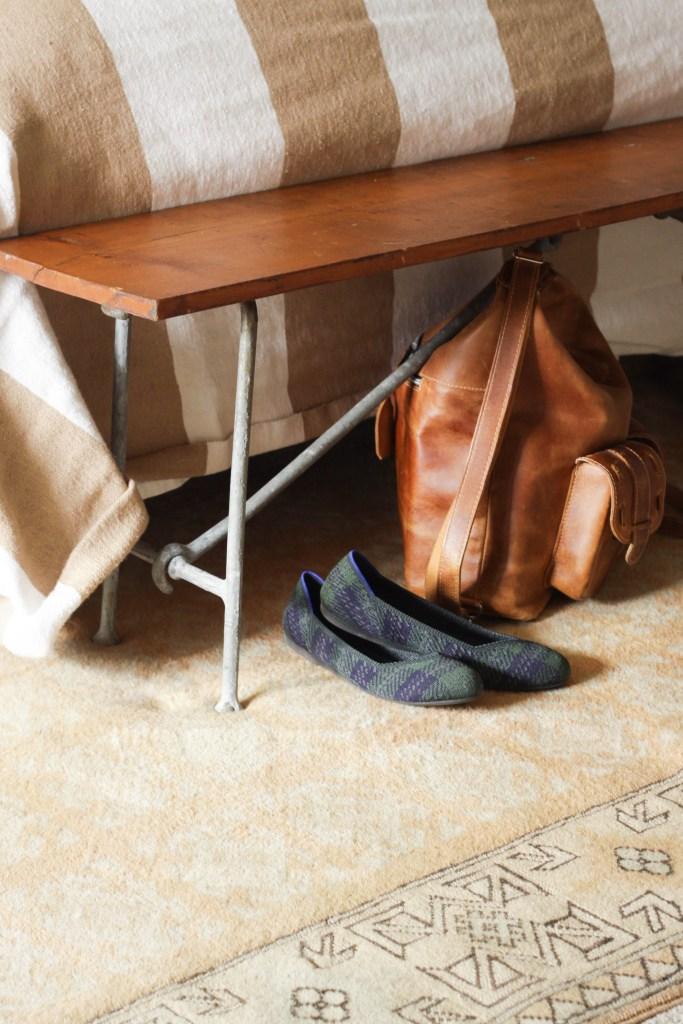 Rothys tartan flats and Anaya camera bag= great Christmas gift ideas