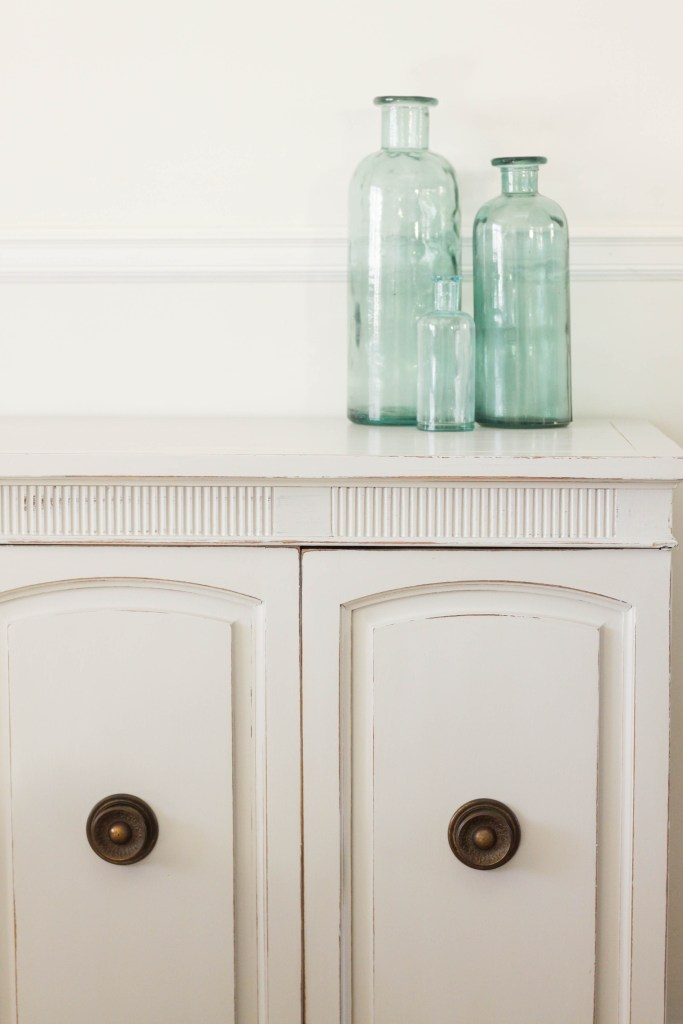 Seagull gray Neoclassical Sideboard Furniture Makeover