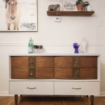 Furniture Makeover: Gray & Wood Midcentury Dresser