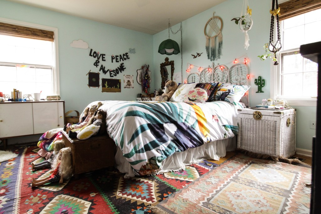 Maximalist Boho Girl's Room