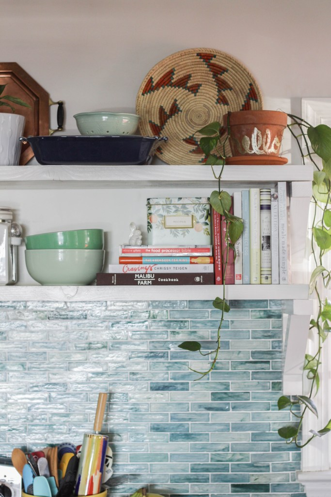 Kitchen Shelf Styling- Open Shelving