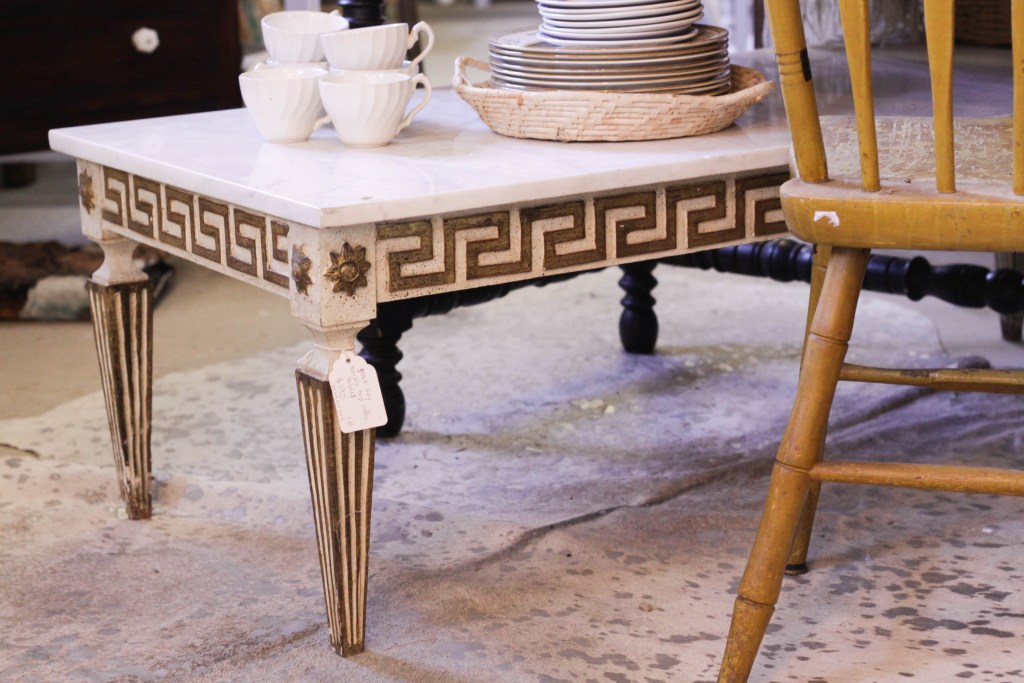 Greek Key and Marble coffee table
