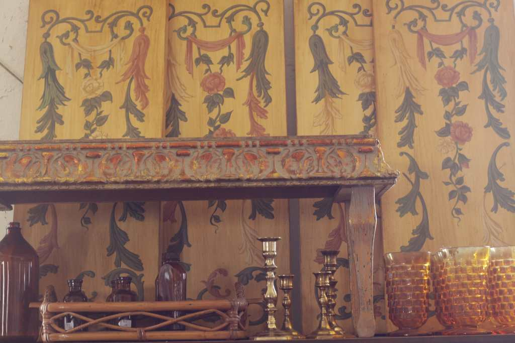 Antique Hand Painted Panels
