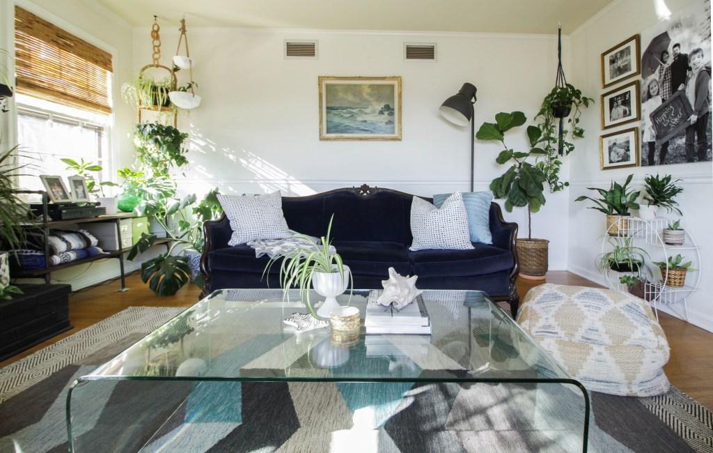 Vintage Seascape over sofa- modern vintage style