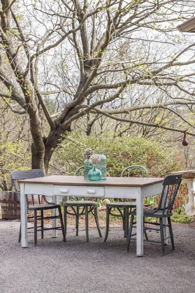 DIY Distressed Oak Farm Table