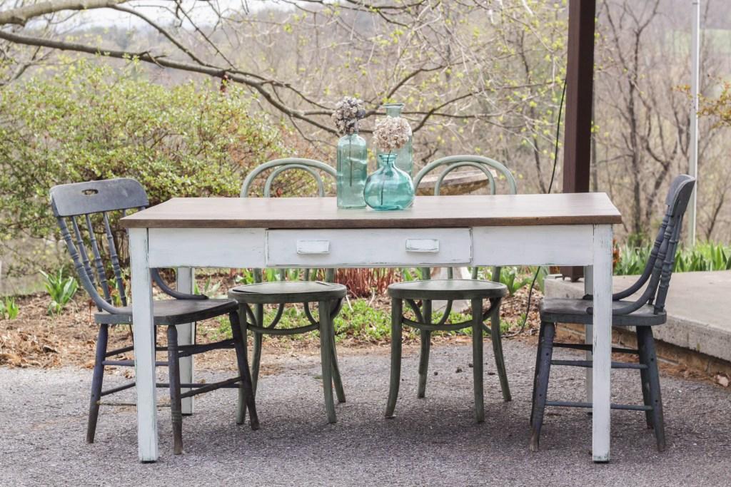 DIY Rustic Farm finish table