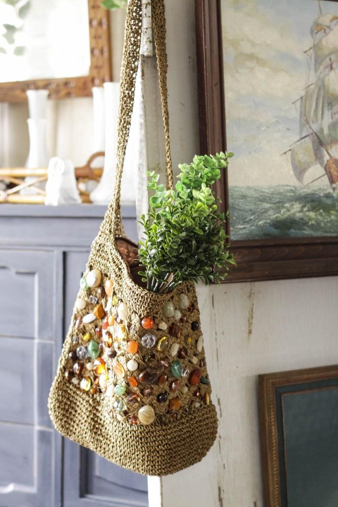 Stone beaded purse