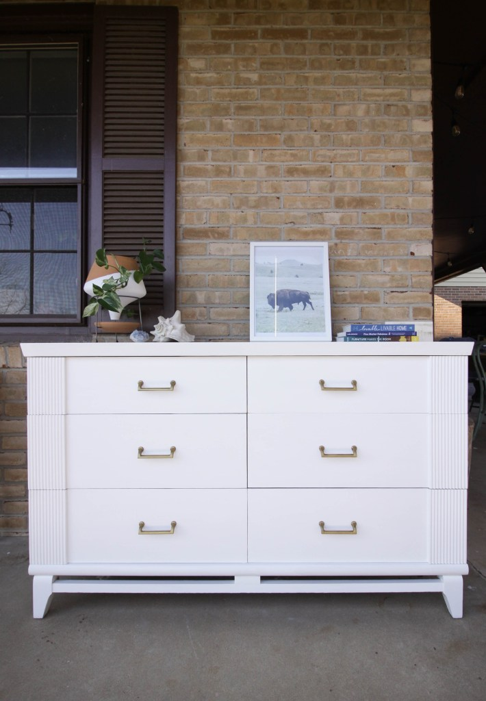 Midcentury Painted Dresser Makeover