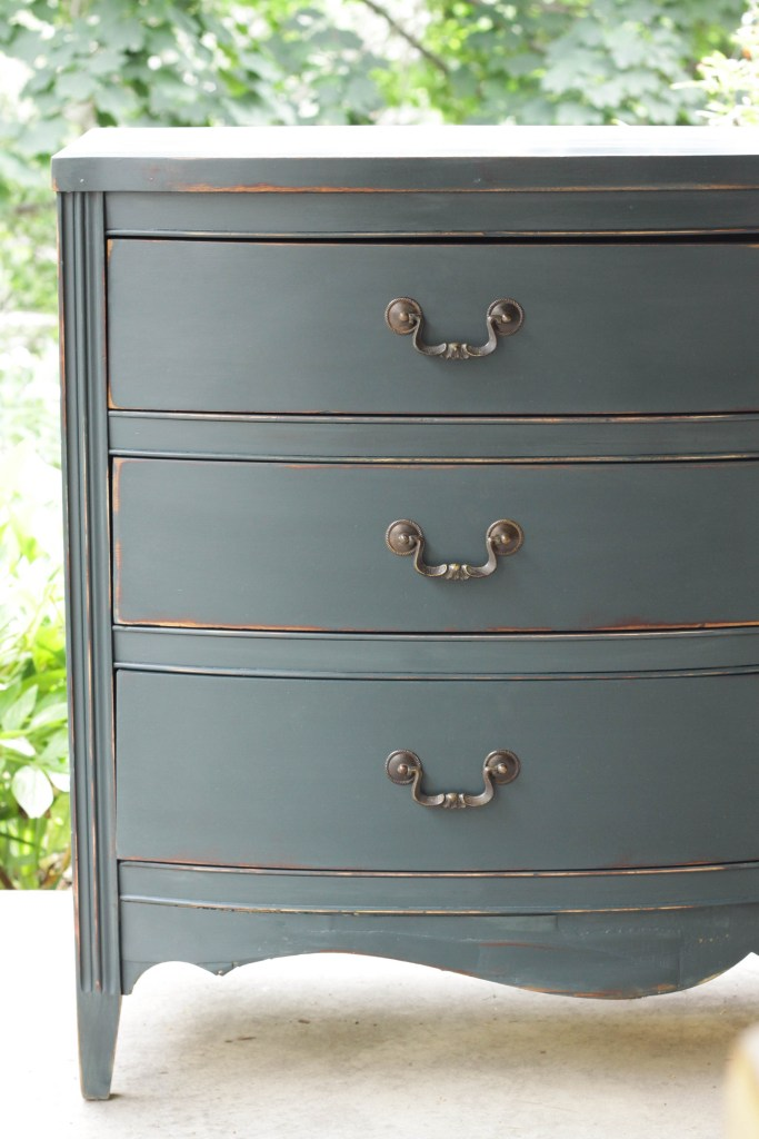 Teal Double Dresser Makeover