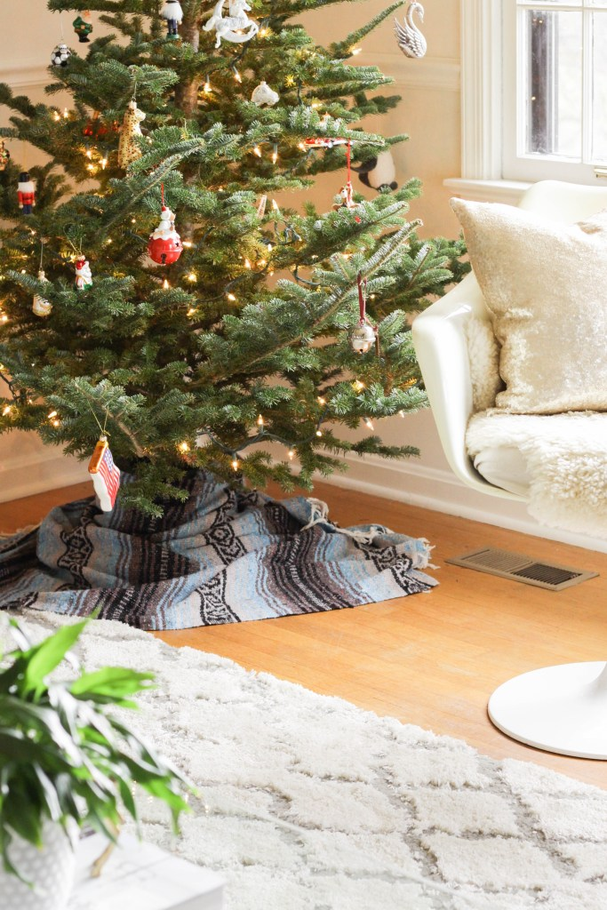 Mexican blanket tree skirt