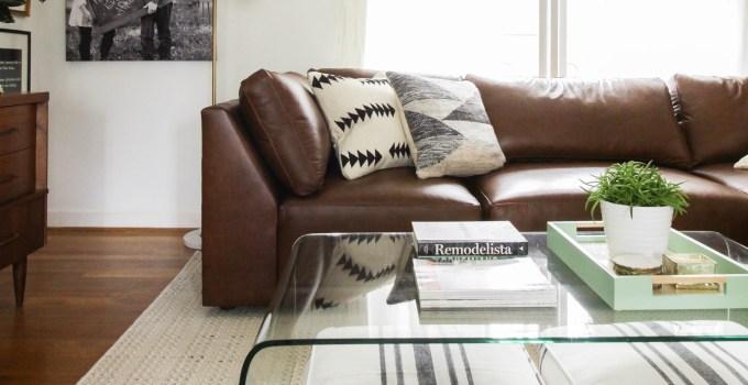 Living Room Progress with Bassett Furniture's Modern Sectional