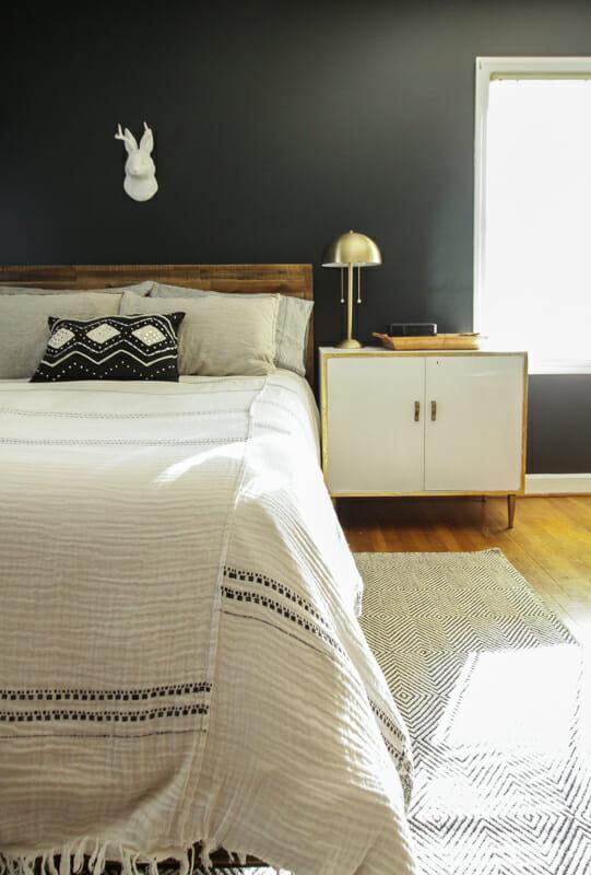 Moody Black Walls Bedroom