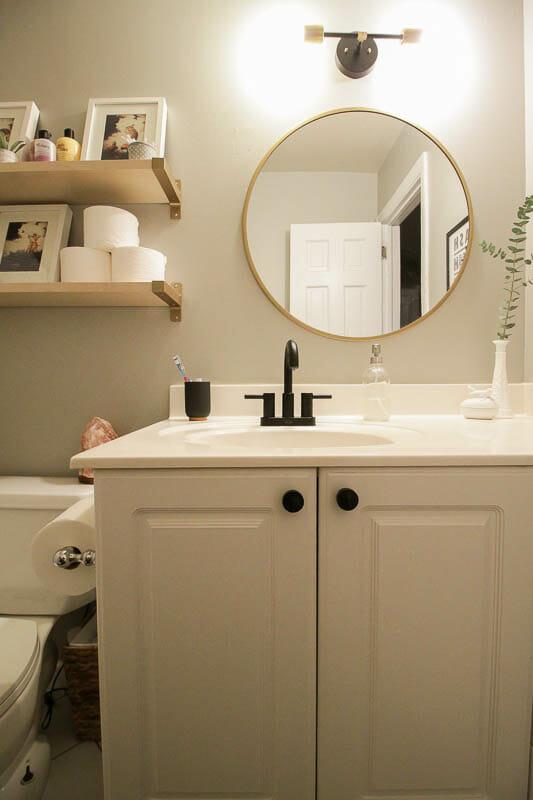 Modern Budget Bathroom Makeover