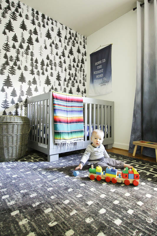 Gender Neutral Nursery with Modern Boho accents