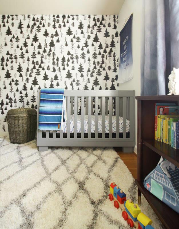Gender Neutral Nursery with White Walls