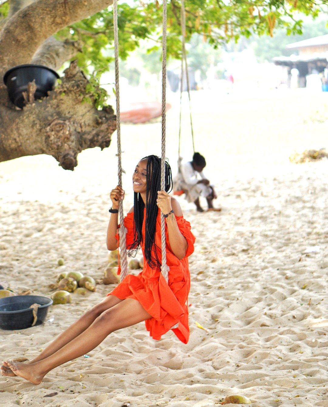 swing chair lagos covers pets living the perfect beach day escape at tarkwa bay