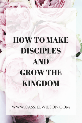 How to make disciples and grow the kingdom- Cassie L. Wilson | Learning to be the light