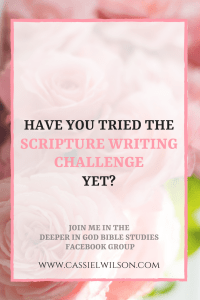 Have you tried the scripture writing challenge yet? Join me!