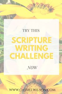 Try this scripture writing challenge | Cassie L. Wilson - learning to be the light