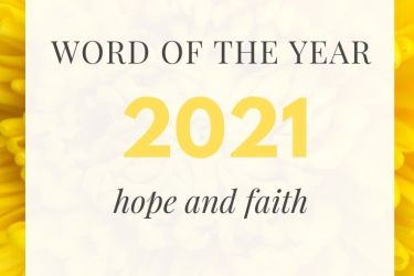 Hope and Faith: 2021's Words of the Year