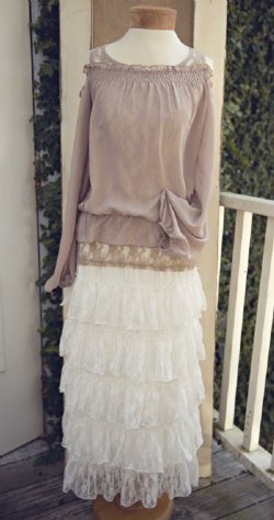 Womans Boutique Skirts Womens Shabby Chic Skirts Womens Lace Skirts Womens Maxie Skirts