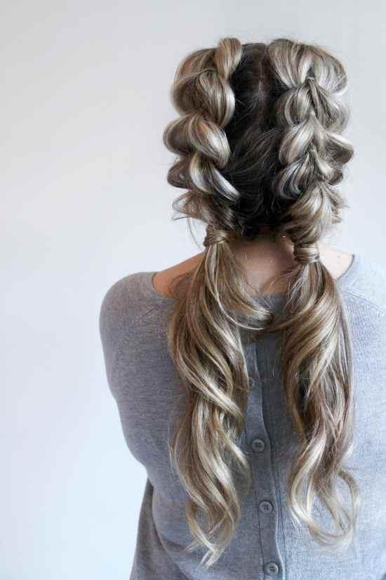 pull through braid ponytails
