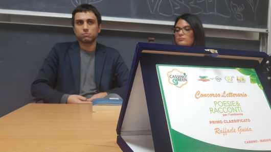 """Raffaele Guida ha ottenuto il primo premio del concorso """"Poesie e racconti per l'ambiente"""""""