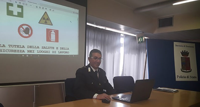 """""""Comandante"""" della sottosezione della Polizia Stradale di Cassino, Sostituto Commissario Giovanni Cerilli"""