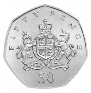 Image result for image of 50 pence coin uk