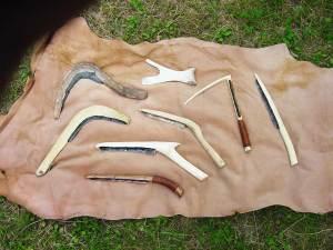 Serie di falcetti messori neolitici e dell'Età del Bronzo