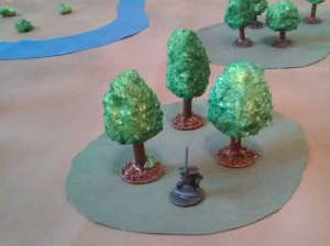 Three trees gives an impression of a forest