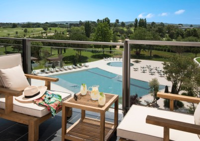 Duplex 228; Five star Hotel; Girona; Golf; Hotel Camiral; PGA Catalunya Resort; photography by Michelle Chaplow; terrace and pool
