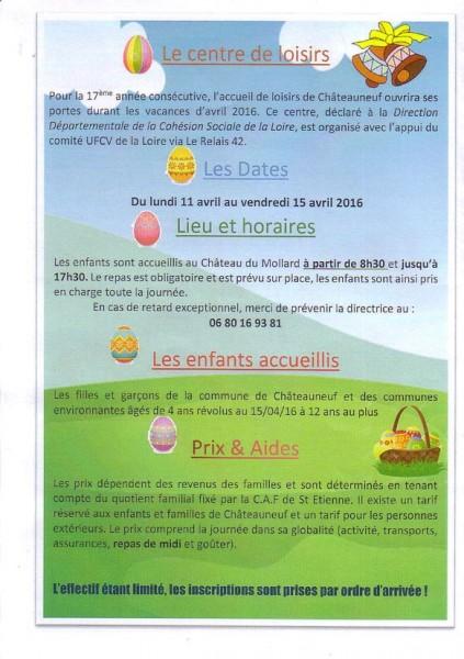 centre de loisirs châteauneuf loire 2016 page 2