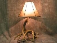 Whitetail Deer 2 Antler Table Lamp | Cast Horn Designs