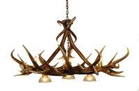 Elk 6 Antler Chandelier with 3 Downlights | Cast Horn Designs