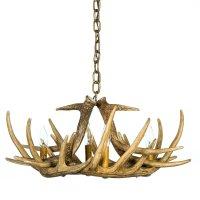 Whitetail Deer 6 Antler Chandelier | Cast Horn Designs