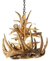 Whitetail Deer 12 Large Antler Chandelier | Cast Horn Designs