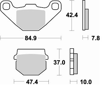 6215059 COPPIA PASTIGLIE FRENO BRAKE PADS MALOSSI DERBI