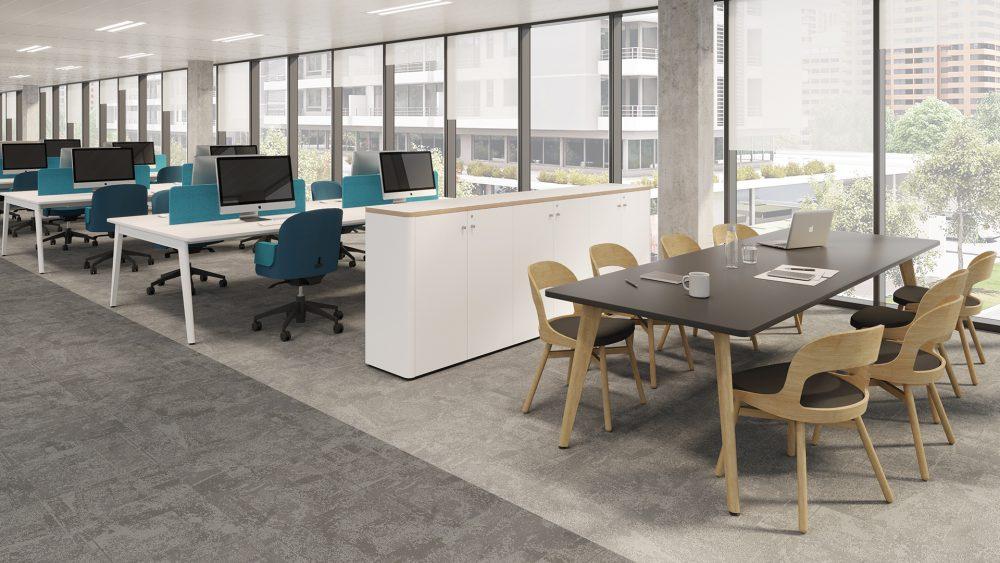 Mobiliario De Oficina Con Estructuras En Madera La